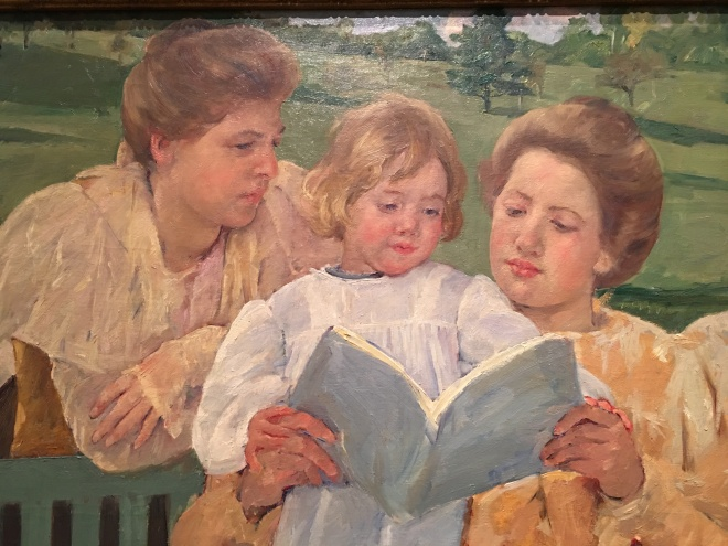 "Mary Cassat, ""Family Group Reading"". Picture taken at Philadelphia Museum of Art."
