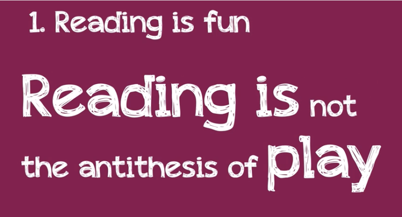 Reading is not he antithesis of play
